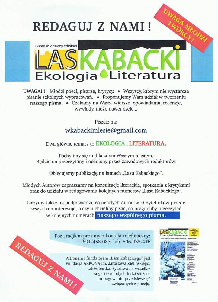 Las Kabacki, Ekologia i Literatura